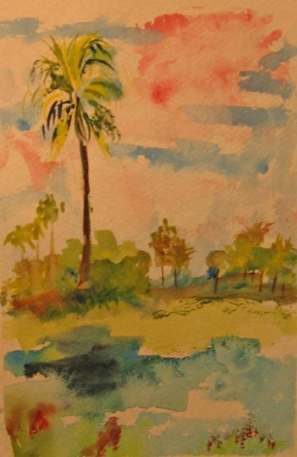 Art: Palm Tree-sold by Artist Delilah Smith