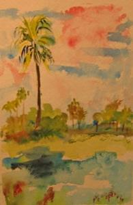 Detail Image for art Palm Tree-sold