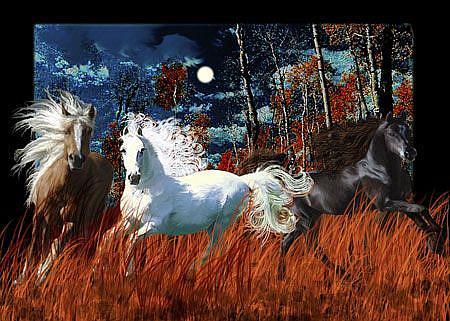 Art: Twilight Fires by Artist Carol Cross