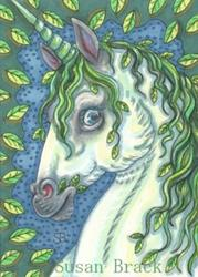 Art: GREEN MAN'S UNICORN by Artist Susan Brack