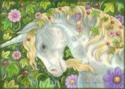 Art: UNICORN AND IVY by Artist Susan Brack