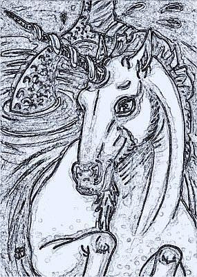 Art: BLUEWATERS OF MERHORSE BAY - Stamp by Artist Susan Brack