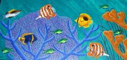 Art: Ryuku Reef Top by Artist Jackie K. Hixon