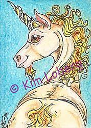 Art: 2012 Unicorn - SOLD by Artist Kim Loberg