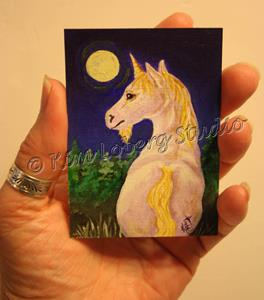 Detail Image for art Pale Moon Unicorn