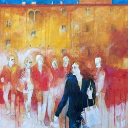 Art: Incontri casuali in piazza by Artist Alessandro Andreuccetti