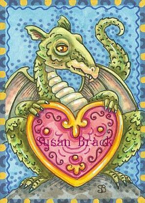 Art: HEART OF A DRAGON by Artist Susan Brack