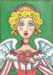 Art: VALENTINE ANGEL by Artist Susan Brack
