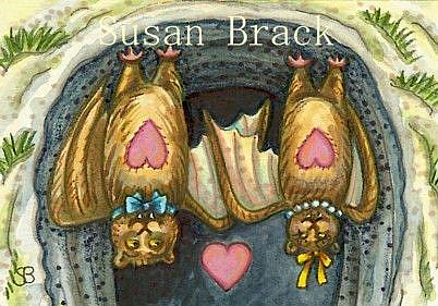 Art: BATTY TUNNEL OF LUV by Artist Susan Brack