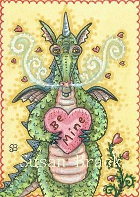 Art: LOOKING FOR LOVE DRAGON by Artist Susan Brack