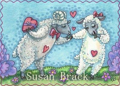 Art: EWE ARE MY HEART'S DESIRE by Artist Susan Brack
