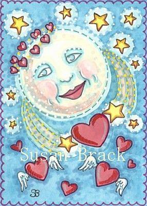 Art: LOVER'S MOON by Artist Susan Brack
