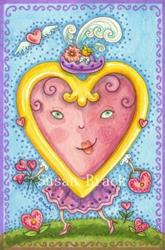 Art: LOVE OF A VALENTINE - CARD by Artist Susan Brack