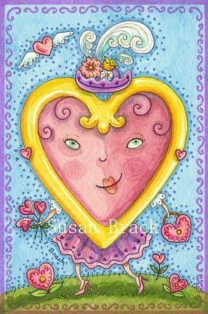 Art: LOVE OF A VALENTINE - CARD by Artist Susan Brack