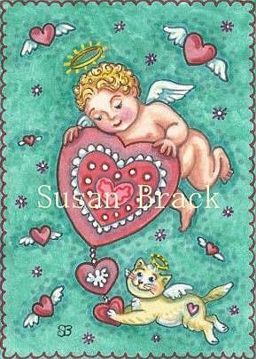 Art: CUPID'S HEART by Artist Susan Brack