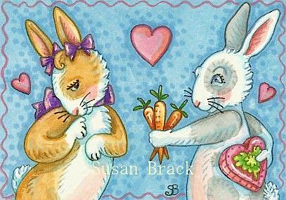 Art: BE MY HUNNY BUNNY by Artist Susan Brack