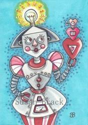 Art: BRIGHT IDEA FOR A VALENTINE by Artist Susan Brack