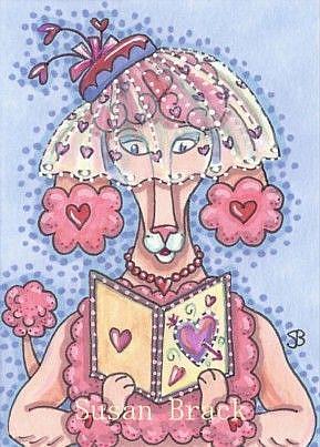 Art: PINK POODLE VALENTINE by Artist Susan Brack