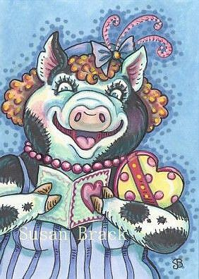 Art: OINK YOU GLAD HE REMEMBERED? by Artist Susan Brack