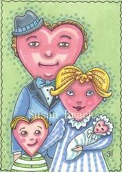 Art: VALENTINE FAMILY by Artist Susan Brack