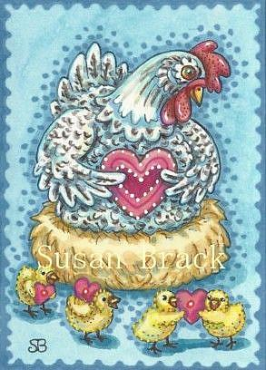 Art: VALENTINE CHICKS by Artist Susan Brack