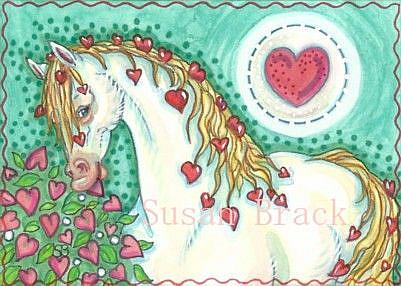 Art: PONY OF HEARTS by Artist Susan Brack