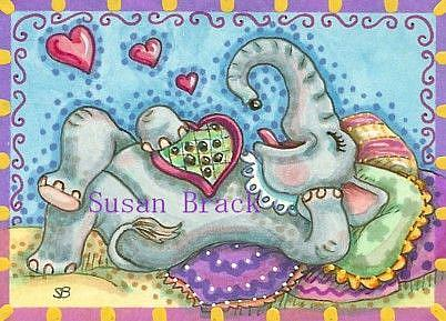 Art: CHOCOLATE IS A GIRL'S BEST FRIEND by Artist Susan Brack
