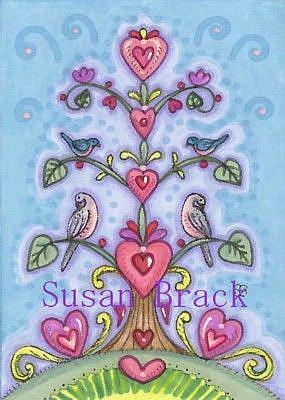 Art: VALENTINE TREE OF LIFE by Artist Susan Brack