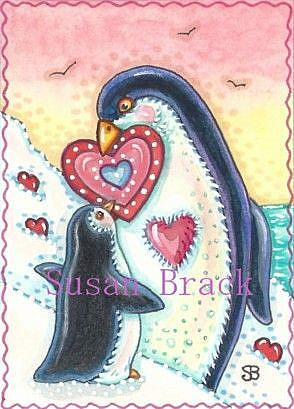 Art: MY LITTLE VALENTINE by Artist Susan Brack
