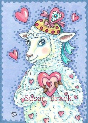Art: WILL EWE BE MINE Valentine by Artist Susan Brack