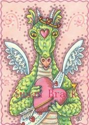 Art: CUPID'S HEART dragon by Artist Susan Brack