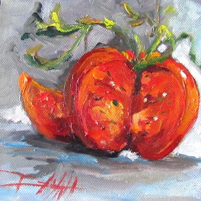 Art: Red Tomato by Artist Delilah Smith