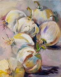 Art: A study of Onions by Artist Delilah Smith