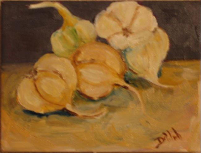Art: Garlic=sold by Artist Delilah Smith