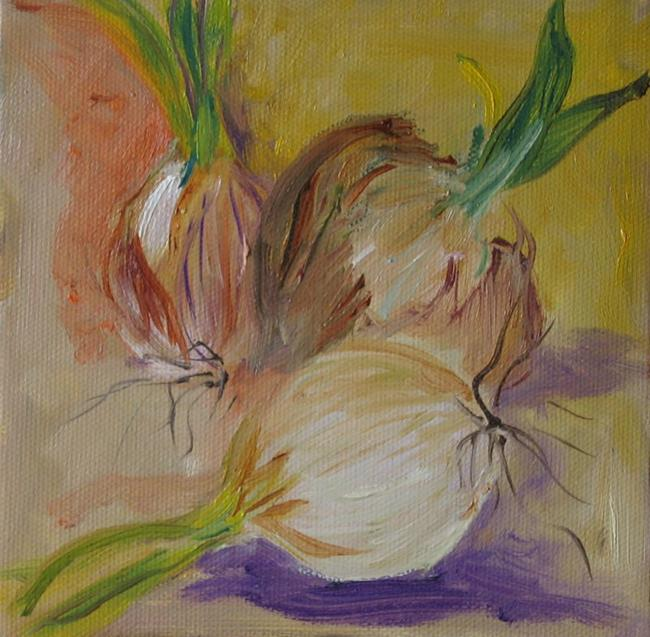 Art: Three Onions, SOLD by Artist Delilah Smith