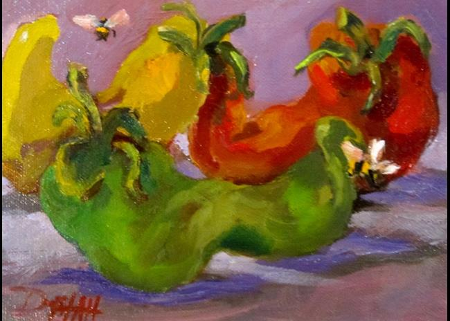 Art: Hot Peppers by Artist Delilah Smith