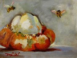 Art: Turban Squash by Artist Delilah Smith