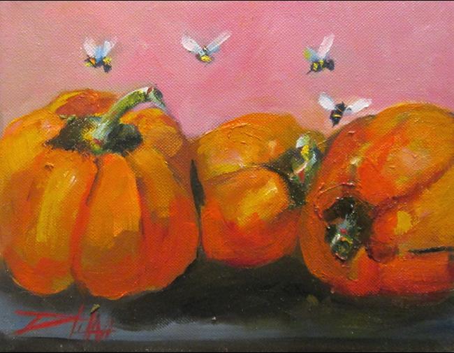 Art: Orange Peppers by Artist Delilah Smith