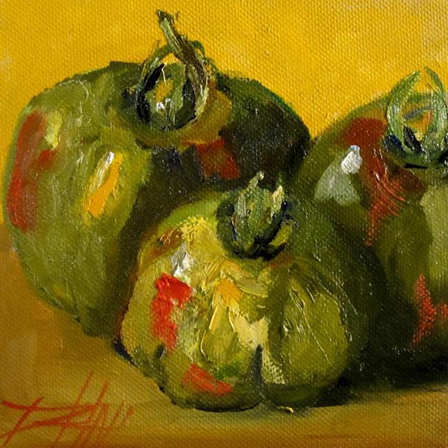 Art: Green Tomato's by Artist Delilah Smith