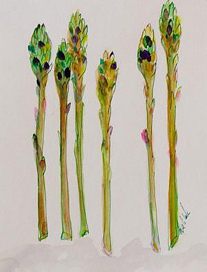 Art: Asparagus II by Artist Delilah Smith