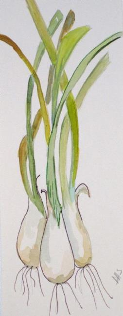 Art: Long Onions by Artist Delilah Smith