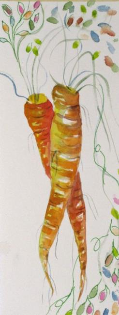 Art: Long Carrots by Artist Delilah Smith