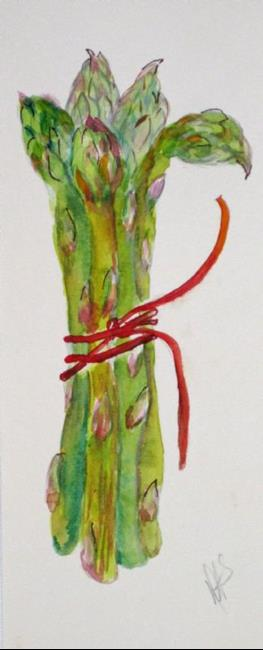 Art: Long Asparagus- sold by Artist Delilah Smith
