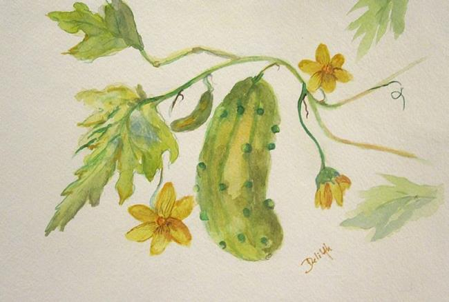 Art: Cucumber Painting by Artist Delilah Smith