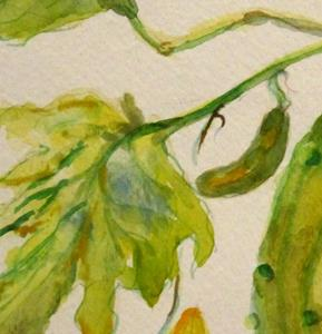 Detail Image for art Cucumber Painting