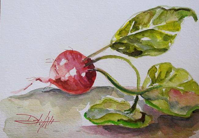 Art: One Radish by Artist Delilah Smith
