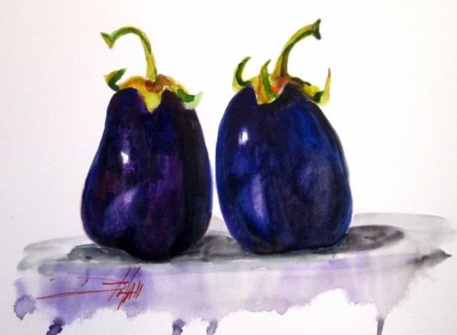 Art: Eggplants by Artist Delilah Smith