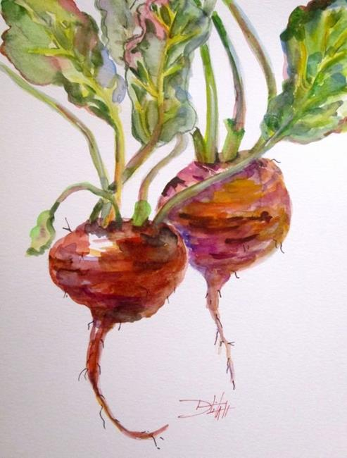 Art: Two Beets by Artist Delilah Smith