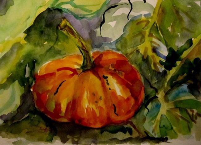 Art: Pumpkin-SOLD by Artist Delilah Smith