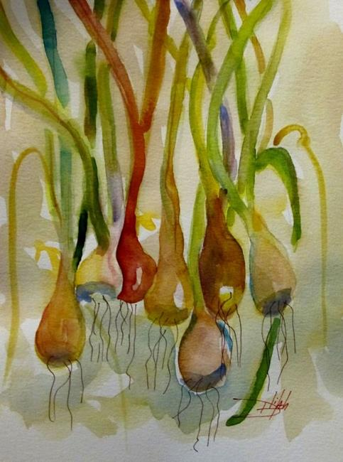 Art: Scallions by Artist Delilah Smith